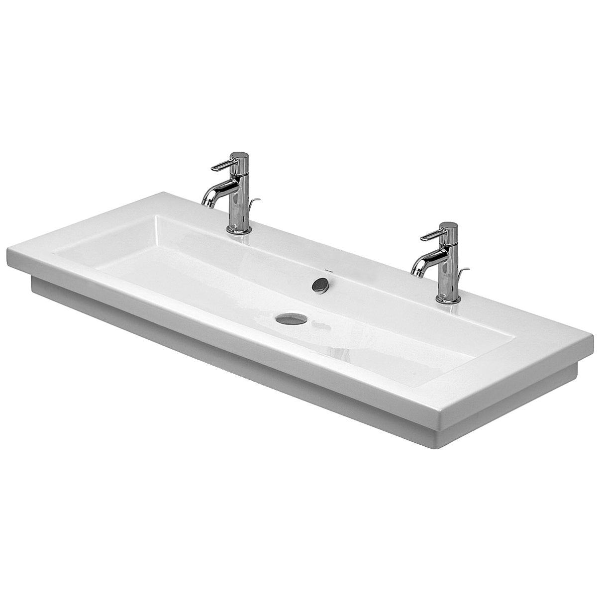duravit 2nd floor 1200 x 505mm 2 tap holes ground. Black Bedroom Furniture Sets. Home Design Ideas