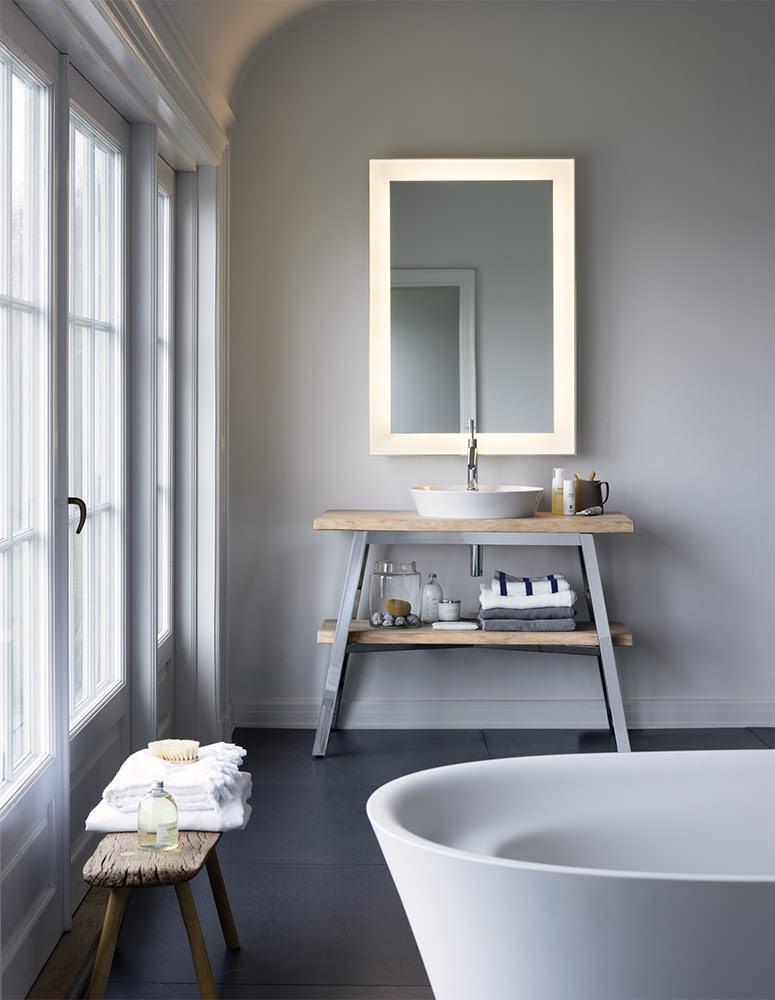 Duravit Cape Cod White Beech Solid Wood Floor Standing