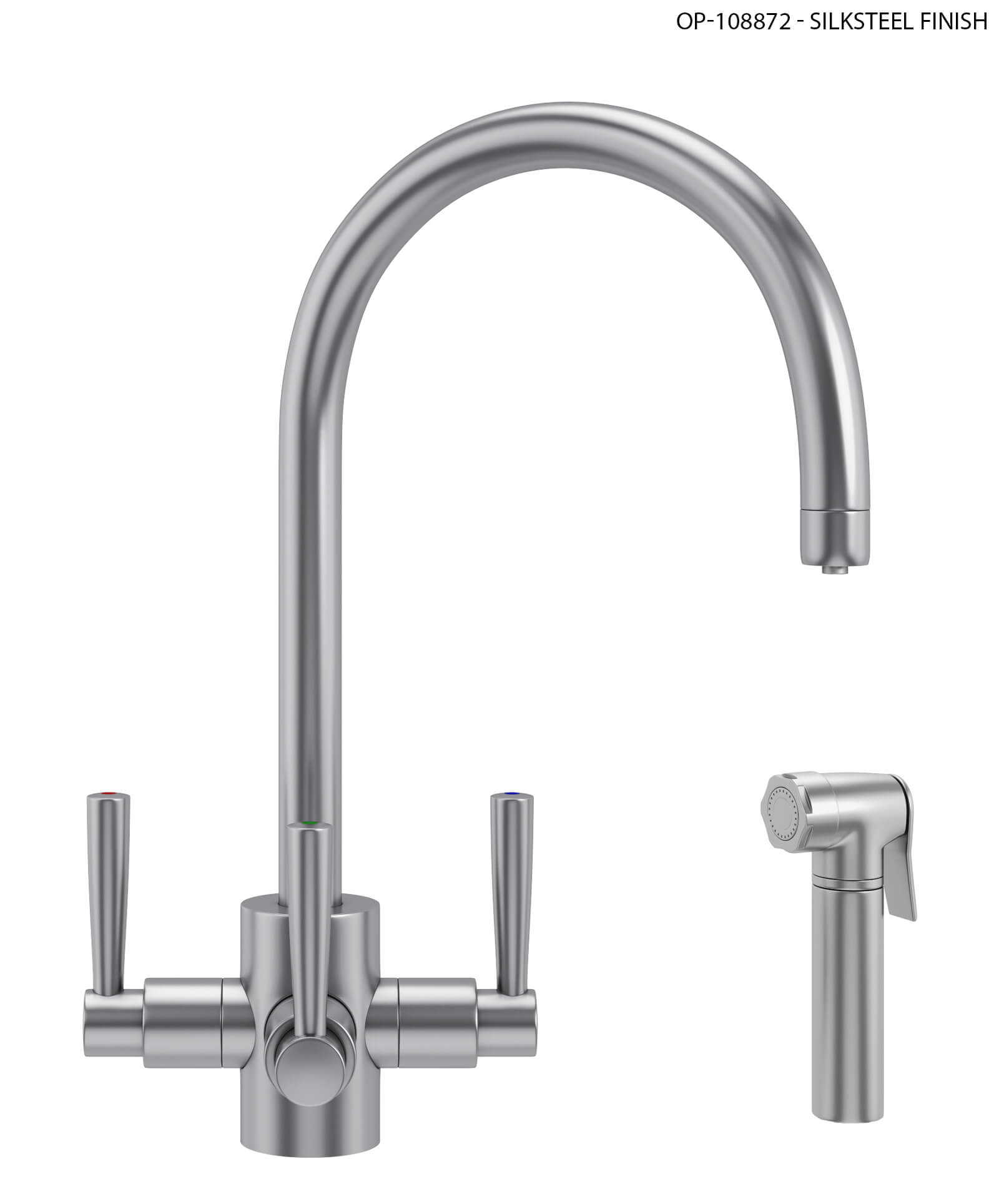 Franke FilterFlow Olympus Sink Tap With Hand Spray Chrome - More ...