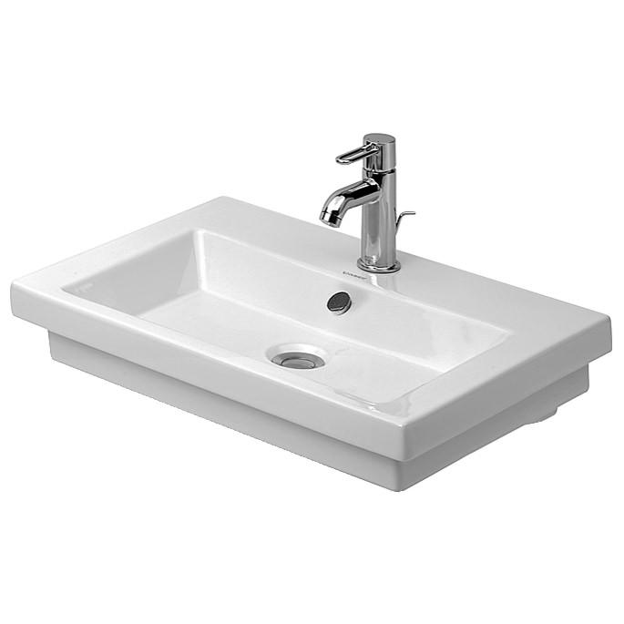 duravit 2nd floor 600 x 430mm washbasin 0491600000. Black Bedroom Furniture Sets. Home Design Ideas