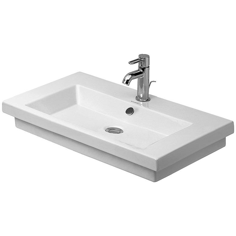duravit 2nd floor 700 x 460mm washbasin 0491700000. Black Bedroom Furniture Sets. Home Design Ideas