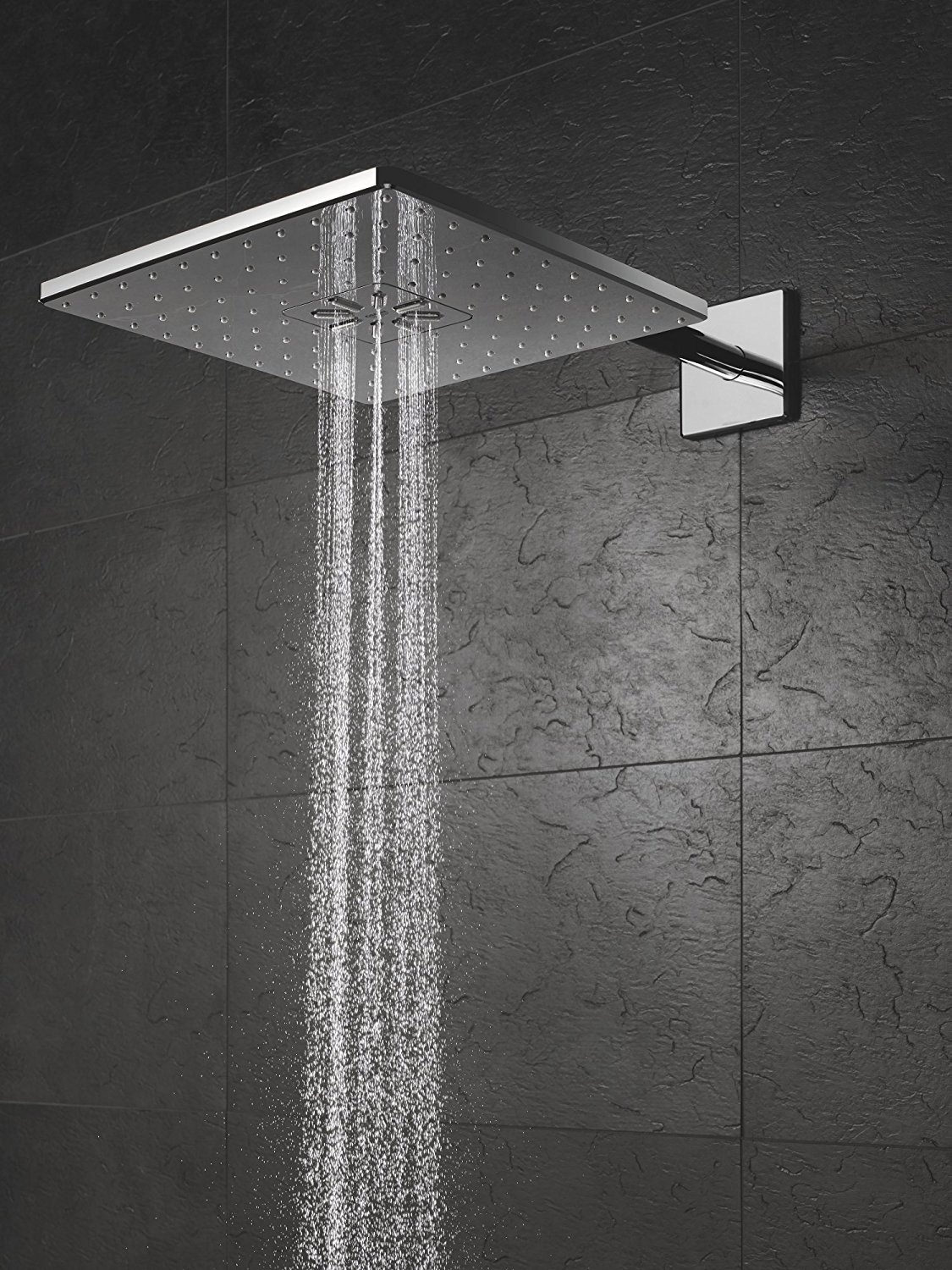 grohe smart control 3 way chrome square shower set 26479000. Black Bedroom Furniture Sets. Home Design Ideas
