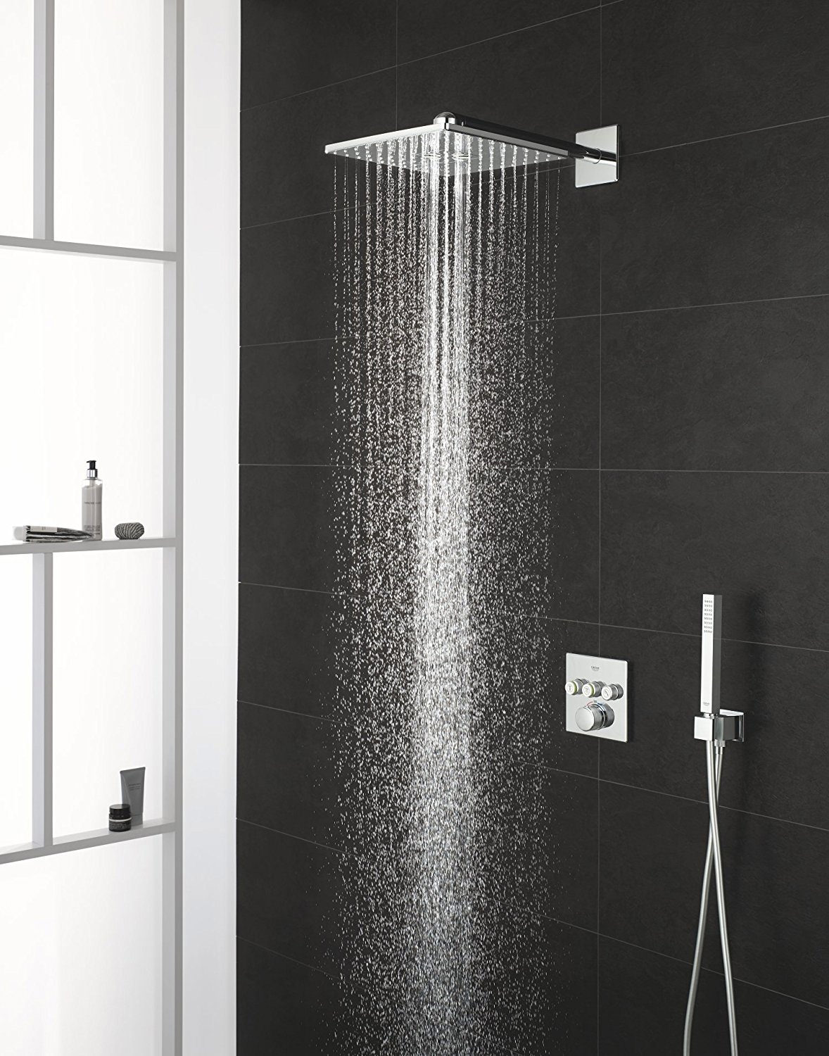 Grohe Smart Control 3 Way Chrome Square Shower Set