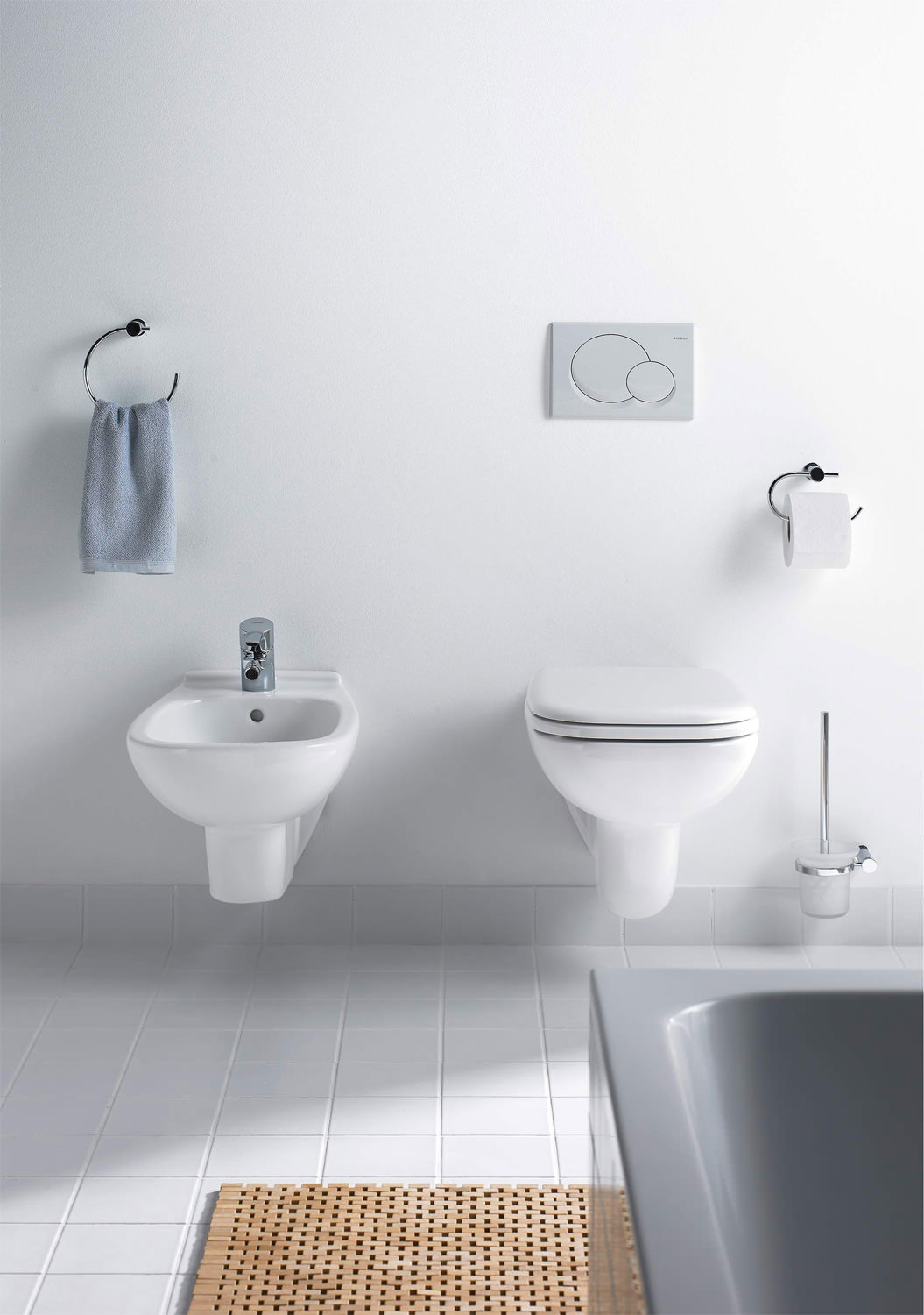 Duravit D Code 545mm Wall Mounted Bidet 22571500002