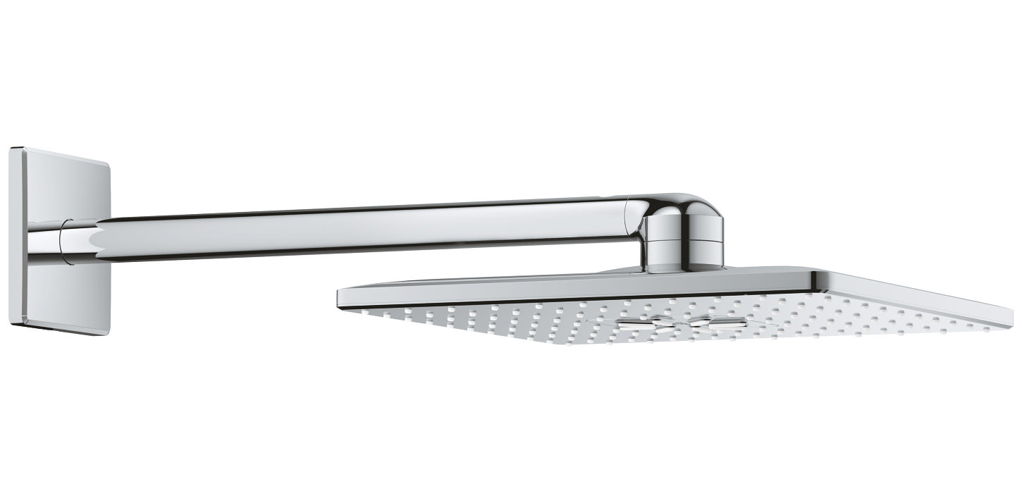 grohe rainshower 310 smartactive cube shower head with arm. Black Bedroom Furniture Sets. Home Design Ideas