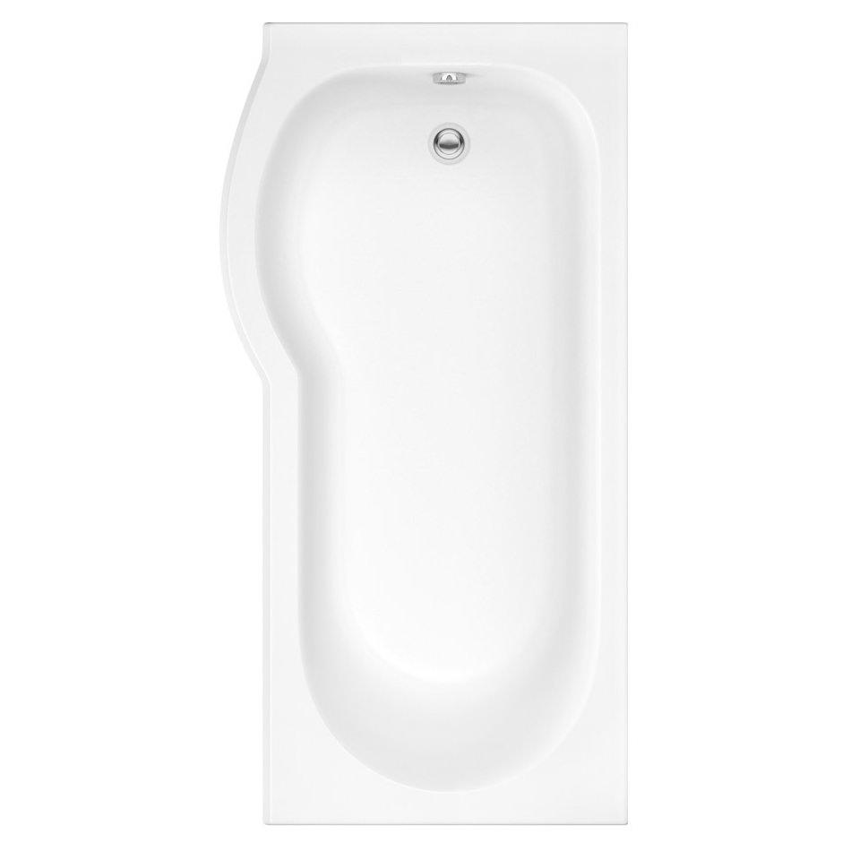 Trojan Concert 1675 X 850mm P Shaped Left Hand Shower Bath