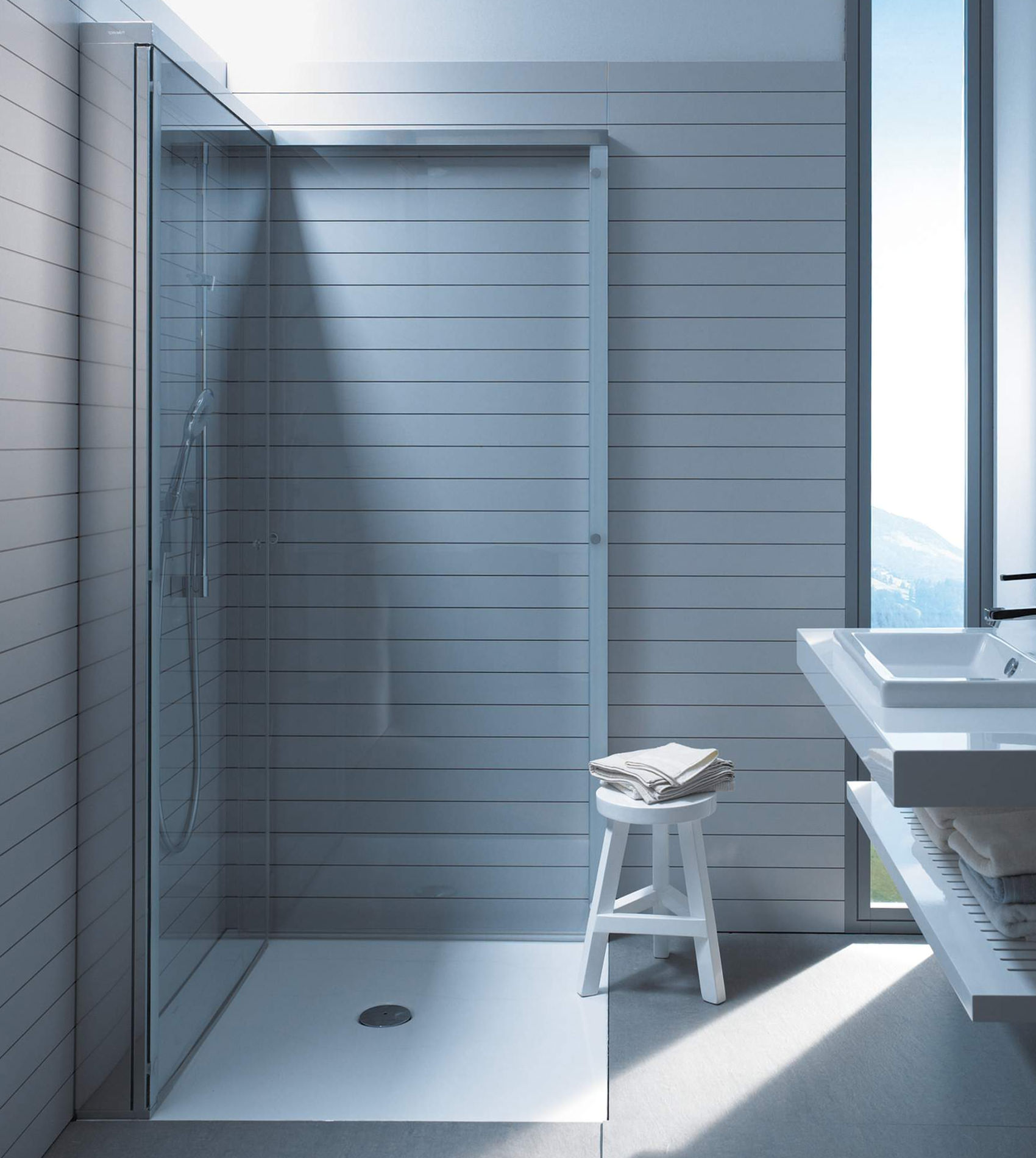 Duravit OpenSpace 785 x 785mm Square Shower Screen For Tap On Left ...