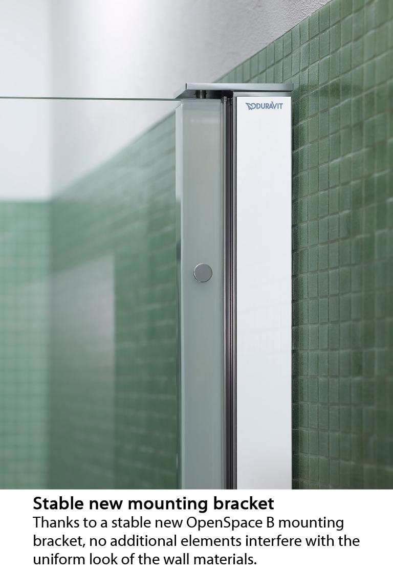 Duravit Openspace B 885 X 885mm Square Shower Screen For
