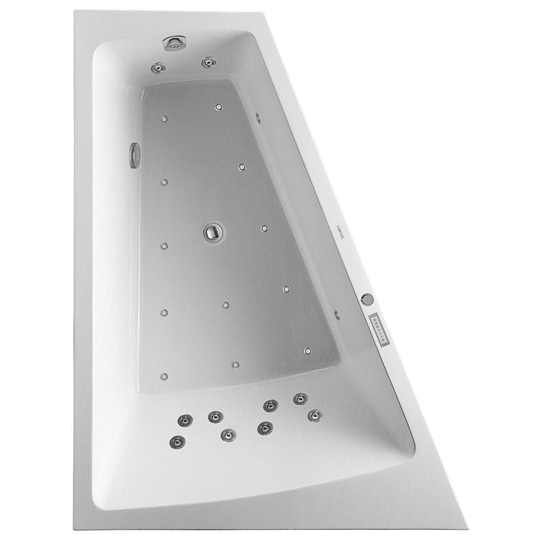duravit paiova 1800 x 1400mm backrest slope left bath with. Black Bedroom Furniture Sets. Home Design Ideas