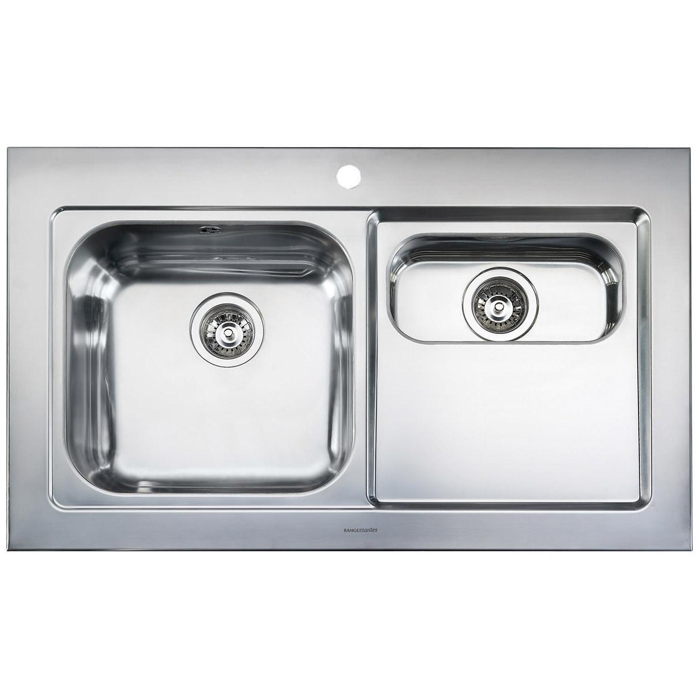 Rangemaster Mezzo 1.5 Bowl Stainless Steel Kitchen Sink