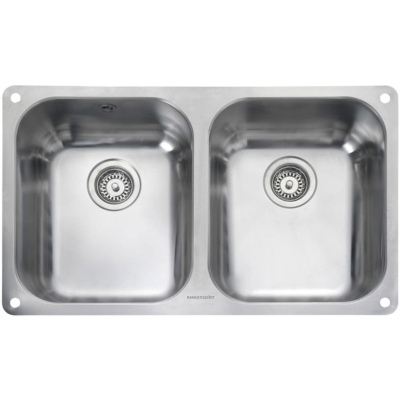 Rangemaster Atlantic Classic 2 Bowl Stainless Steel Undermount Kitchen Sink