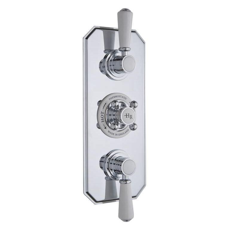 Hudson Reed Topaz Triple Concealed Thermostatic Shower Valve White