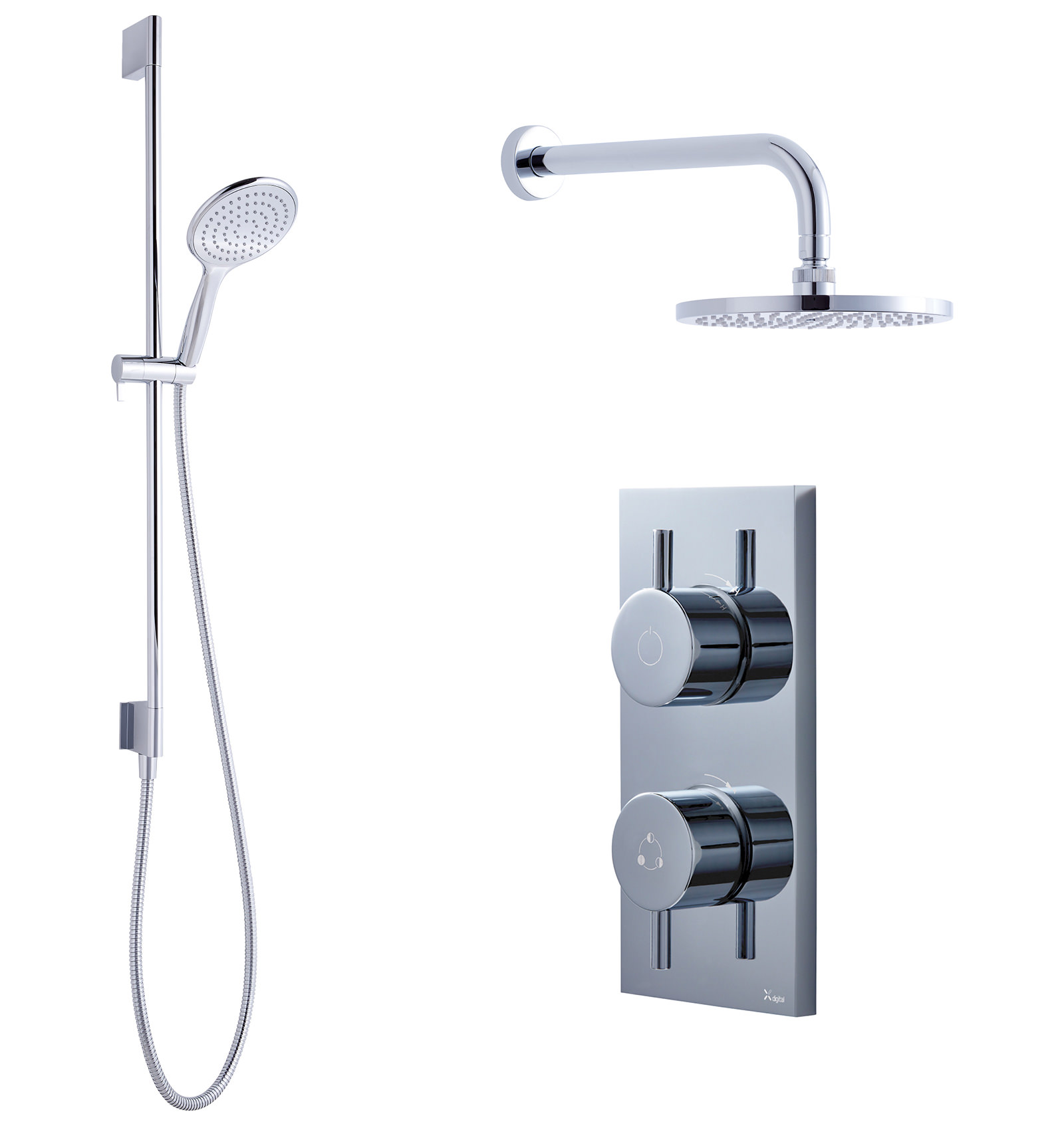 styling round bathroom new pin dorfstyle with inspiration led ledshower rail design overhead dorf shower luminous head