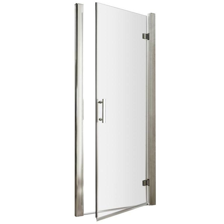 pacific 900 x 1850mm hinged shower door aqhd90