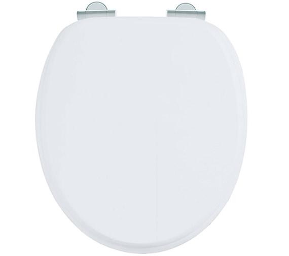 Burlington Matt White Soft Close Wooden Toilet Seat S - Black wooden toilet seat