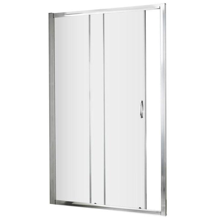 Lauren ella 1200 x 1850mm single sliding shower door ersl12 for 1200 slider shower door