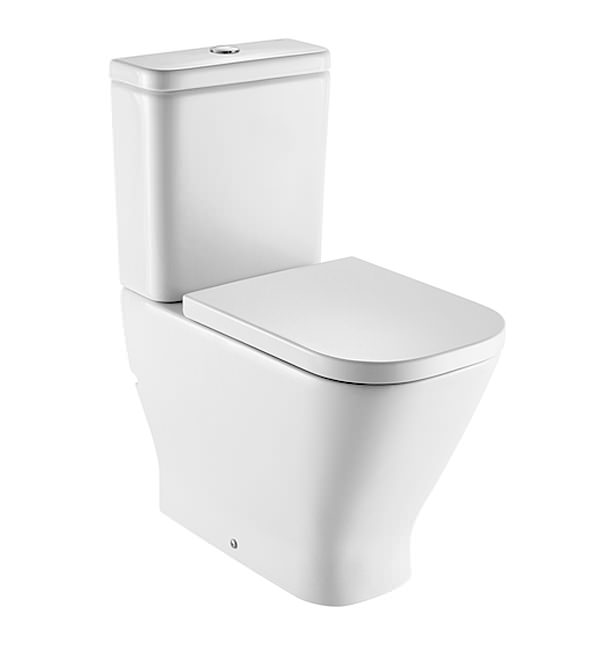 Roca the gap comfort height close coupled wc pan with cistern for Abrir cisterna roca