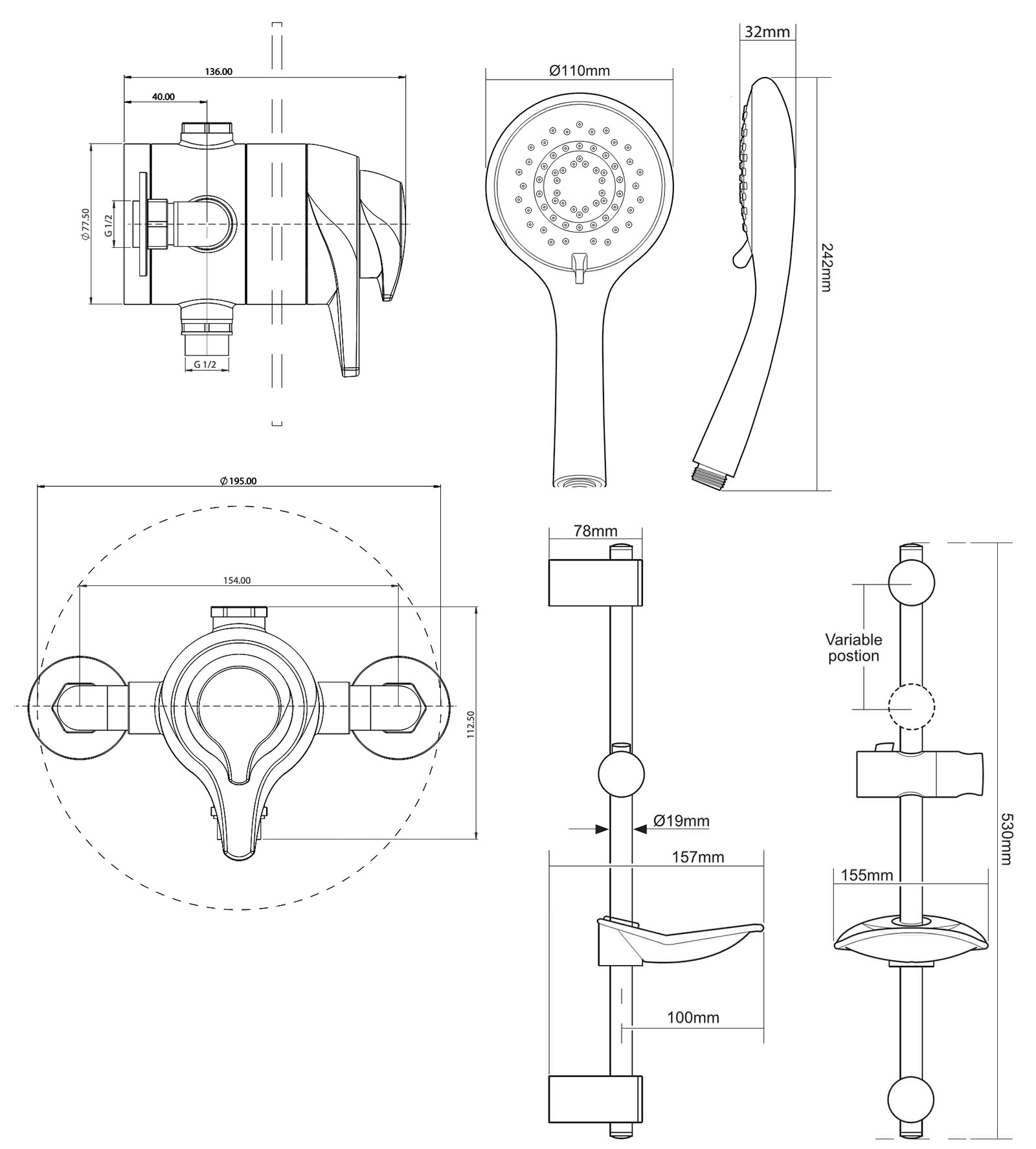 triton eden eco concentric mixer shower set Shower Drain Assembly triton eden eco concentric mixer shower set technical drawing qs v29058 ecoedthcm