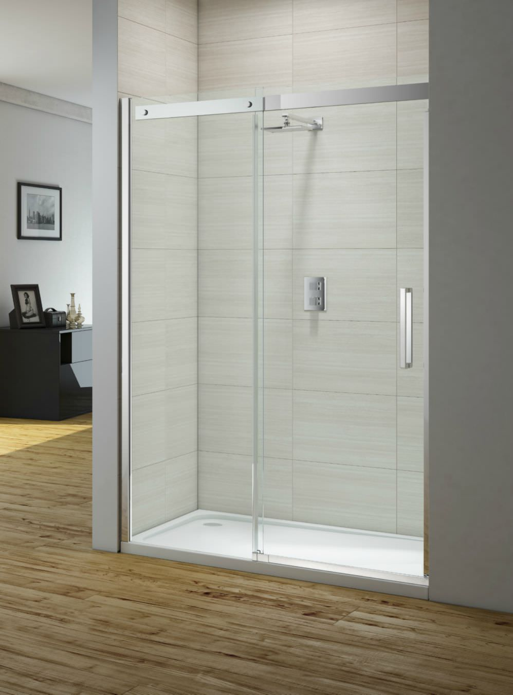 merlyn ionic gravity 1000mm frameless sliding shower door
