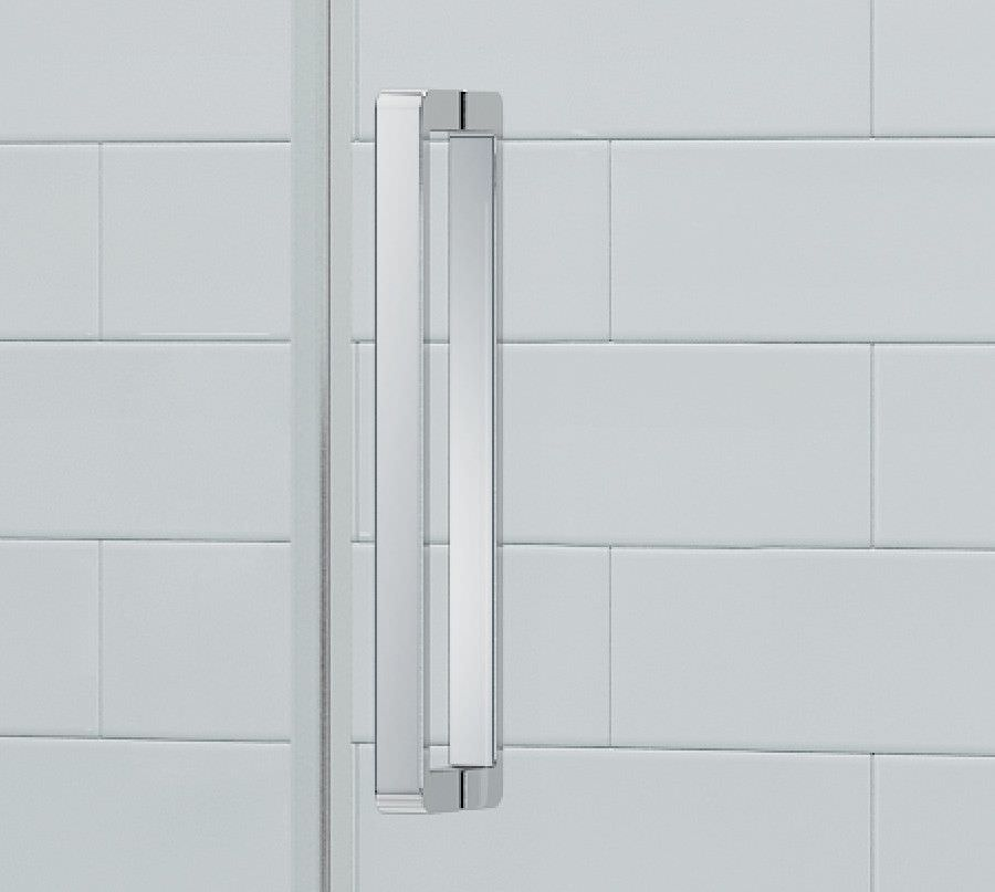 Merlyn ionic gravity 900mm left hand single sliding door for Door quadrant