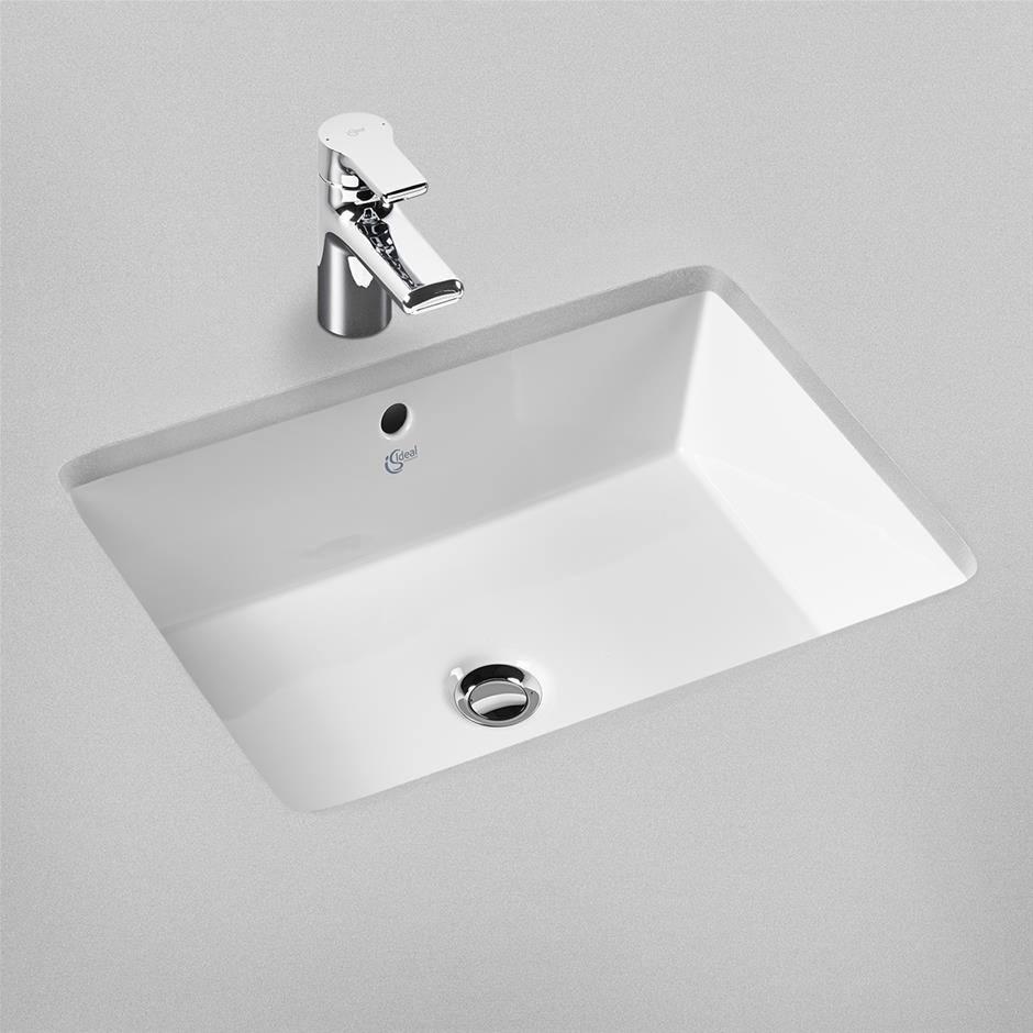 ideal standard strada 600mm under countertop basin no taphole. Black Bedroom Furniture Sets. Home Design Ideas