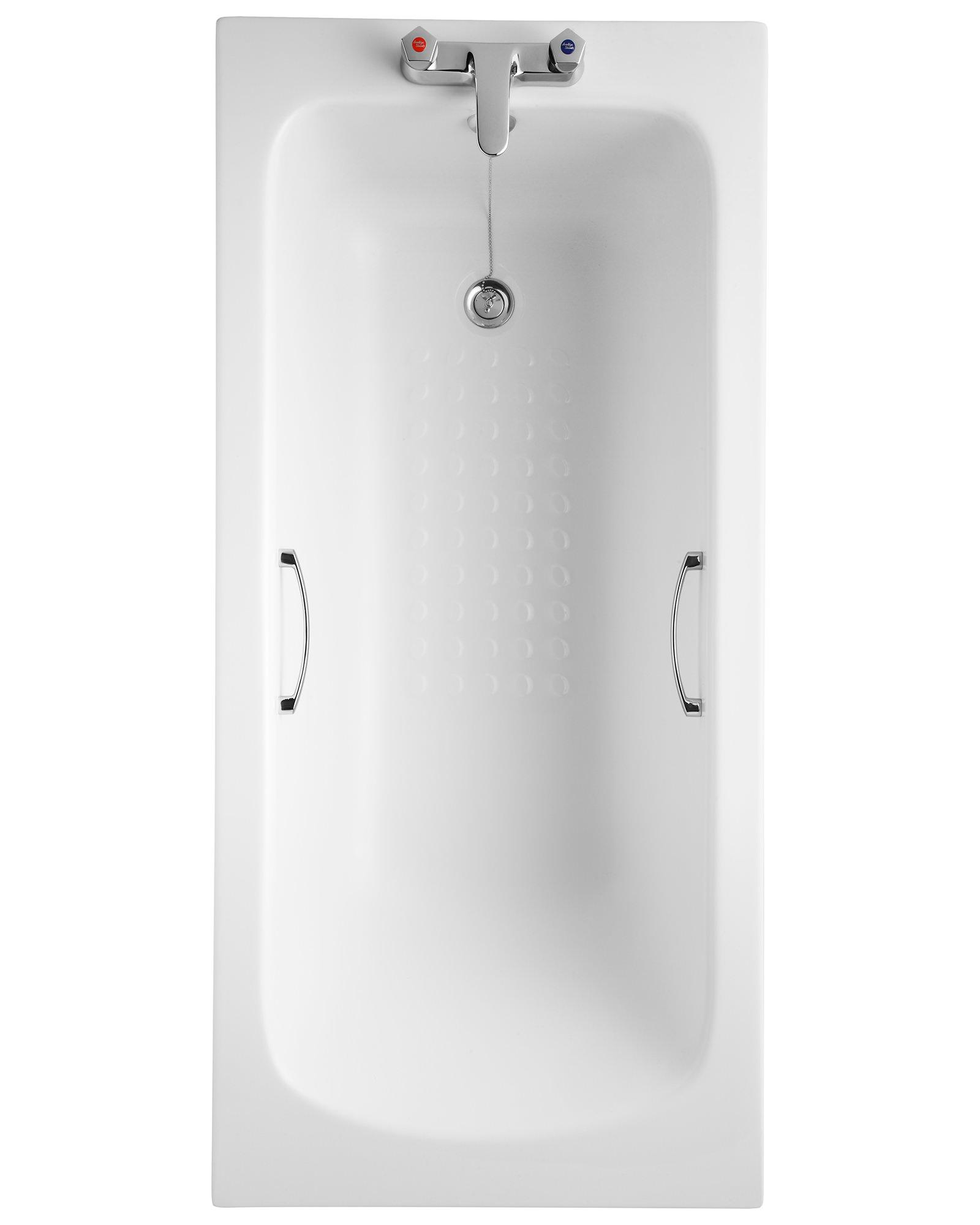 Armitage Shanks Sandringham 21 1500 x 700mm 2TH Bath With Grips ...