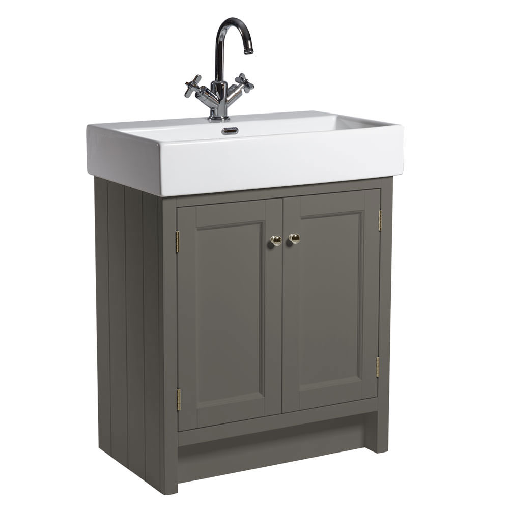 Roper rhodes hampton 700mm pewter vanity unit with basin for Bathroom furniture 700mm
