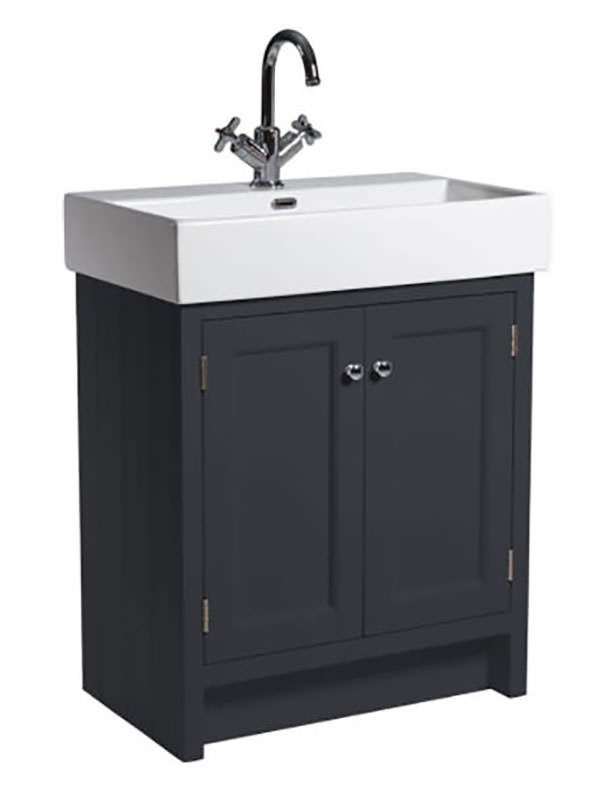 roper rhodes hampton 700mm slate grey vanity unit with basin