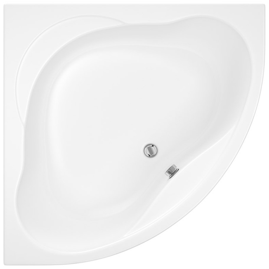 Trojan Laguna 1200 x 1200mm White Corner Bath With Panel