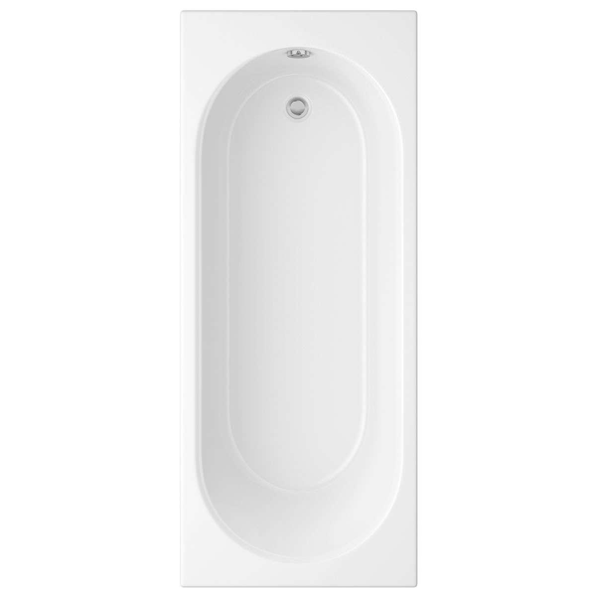Designer Bathroom Accessories Trojan Cascade White Single Ended Bath 1700 X 700mm 2