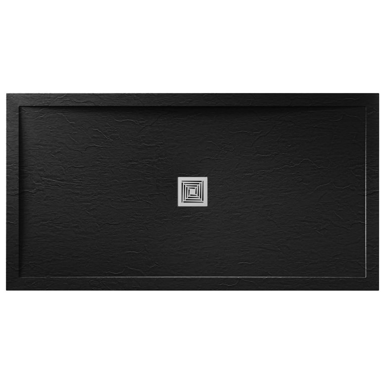 aquadart aqualavo 1700 x 800mm rectangular slate effect. Black Bedroom Furniture Sets. Home Design Ideas