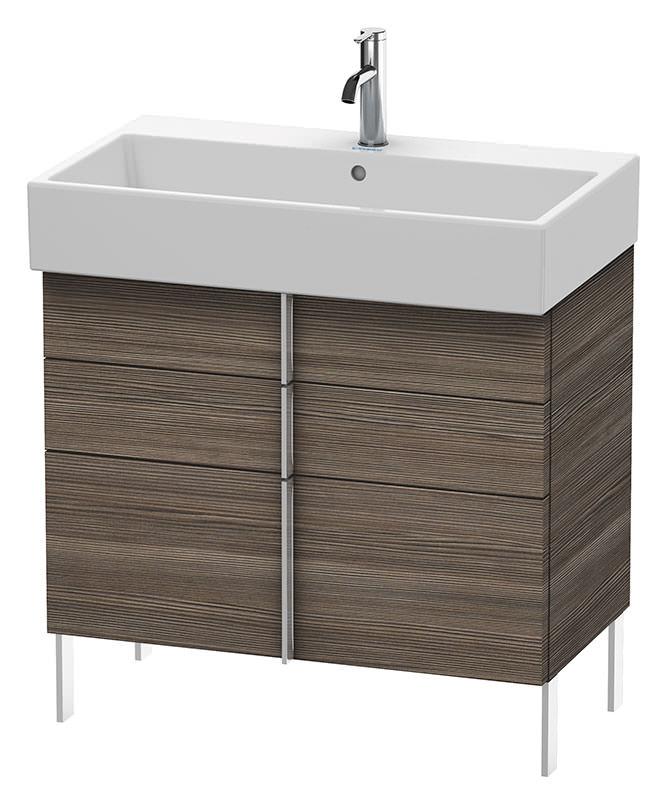 Pine Bathroom Vanity Unit: Duravit Vero Air 784 X 431mm 2 Drawer Floor Standing Unit