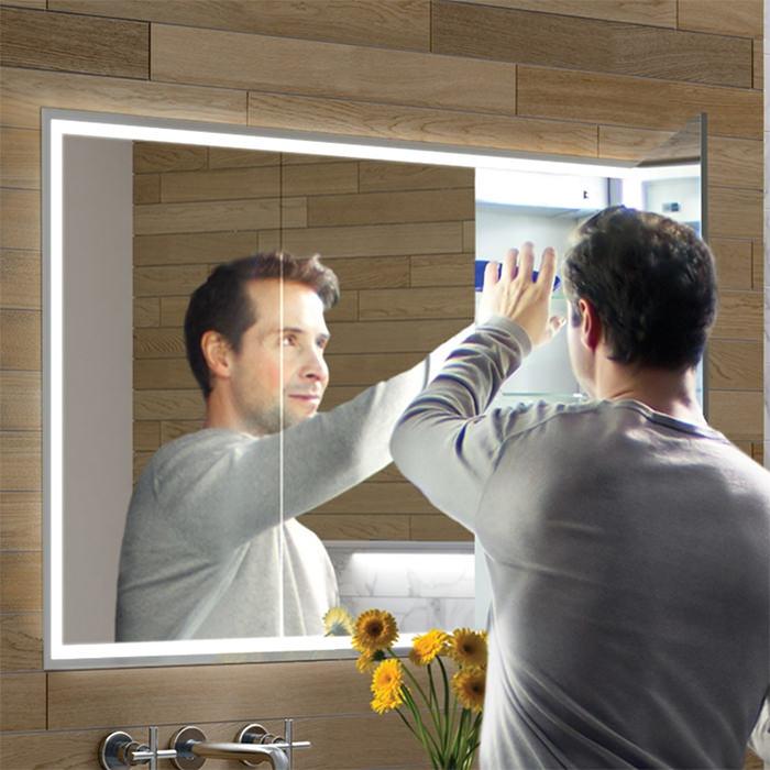 Hib Vanquish 120 Led Demisting Recessed Mirror Cabinet