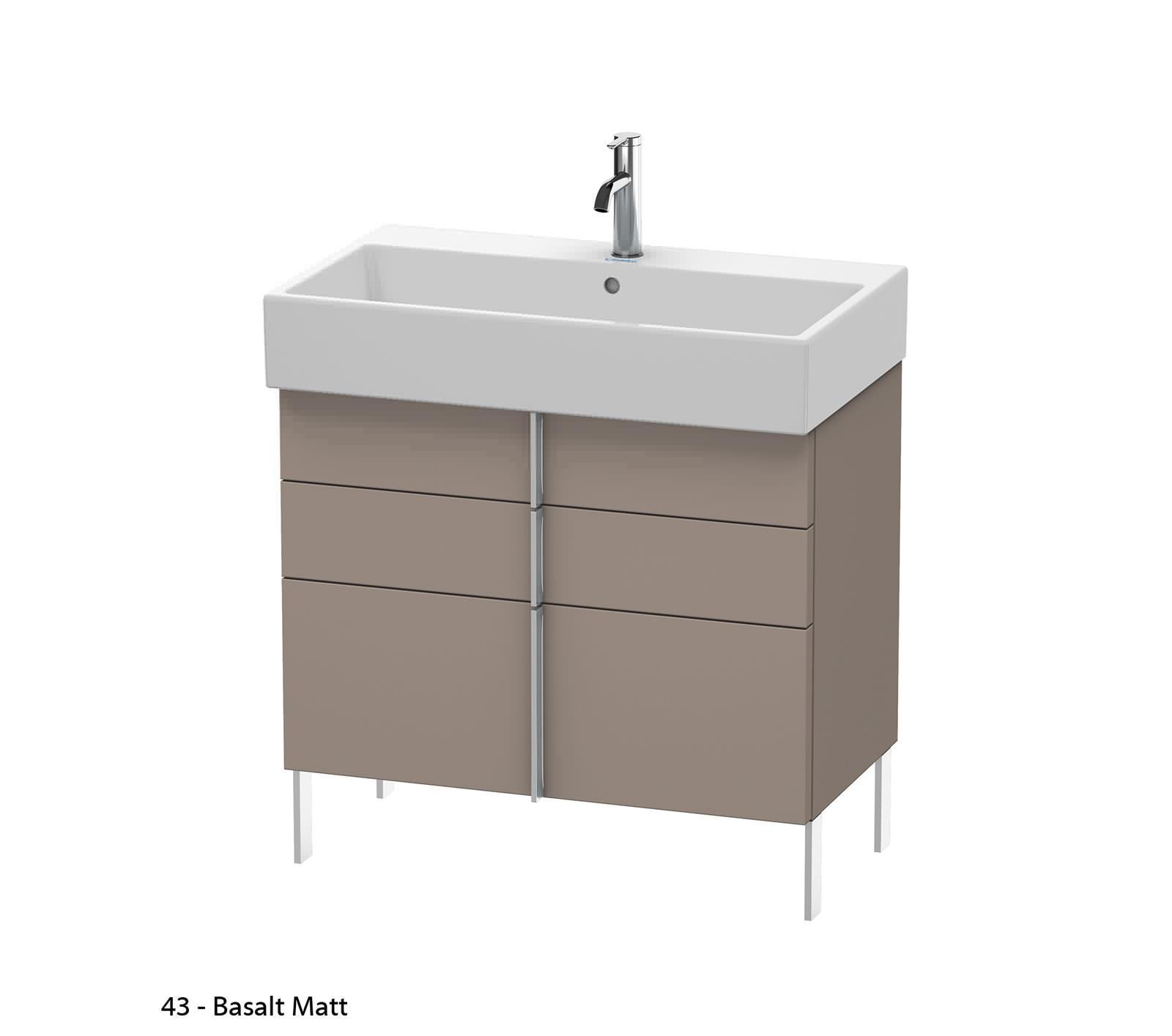 Duravit vero air 784 x 431mm 2 drawer floor standing unit - Duravit bathroom furniture uk ...