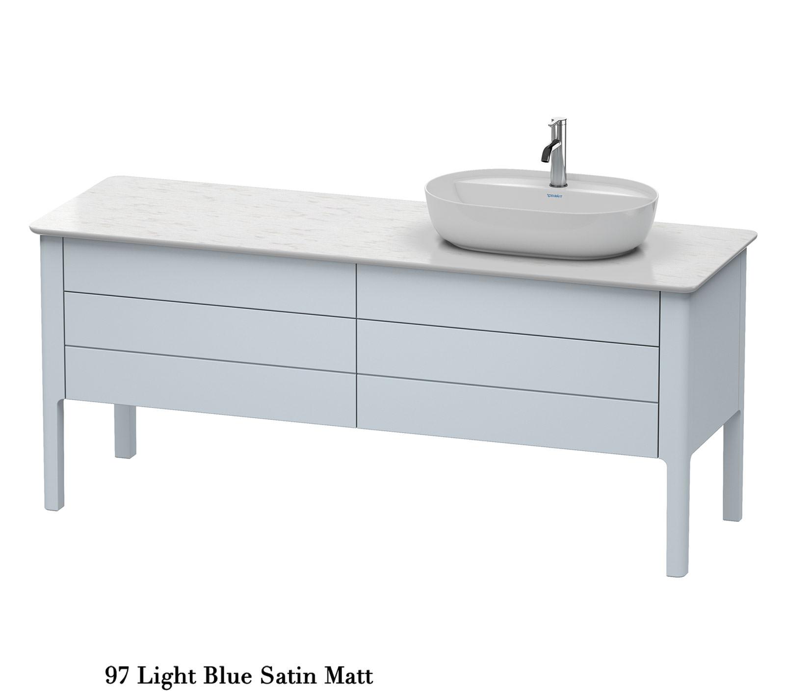 duravit luv 1783x570mm 2 drawer unit night blue satin. Black Bedroom Furniture Sets. Home Design Ideas