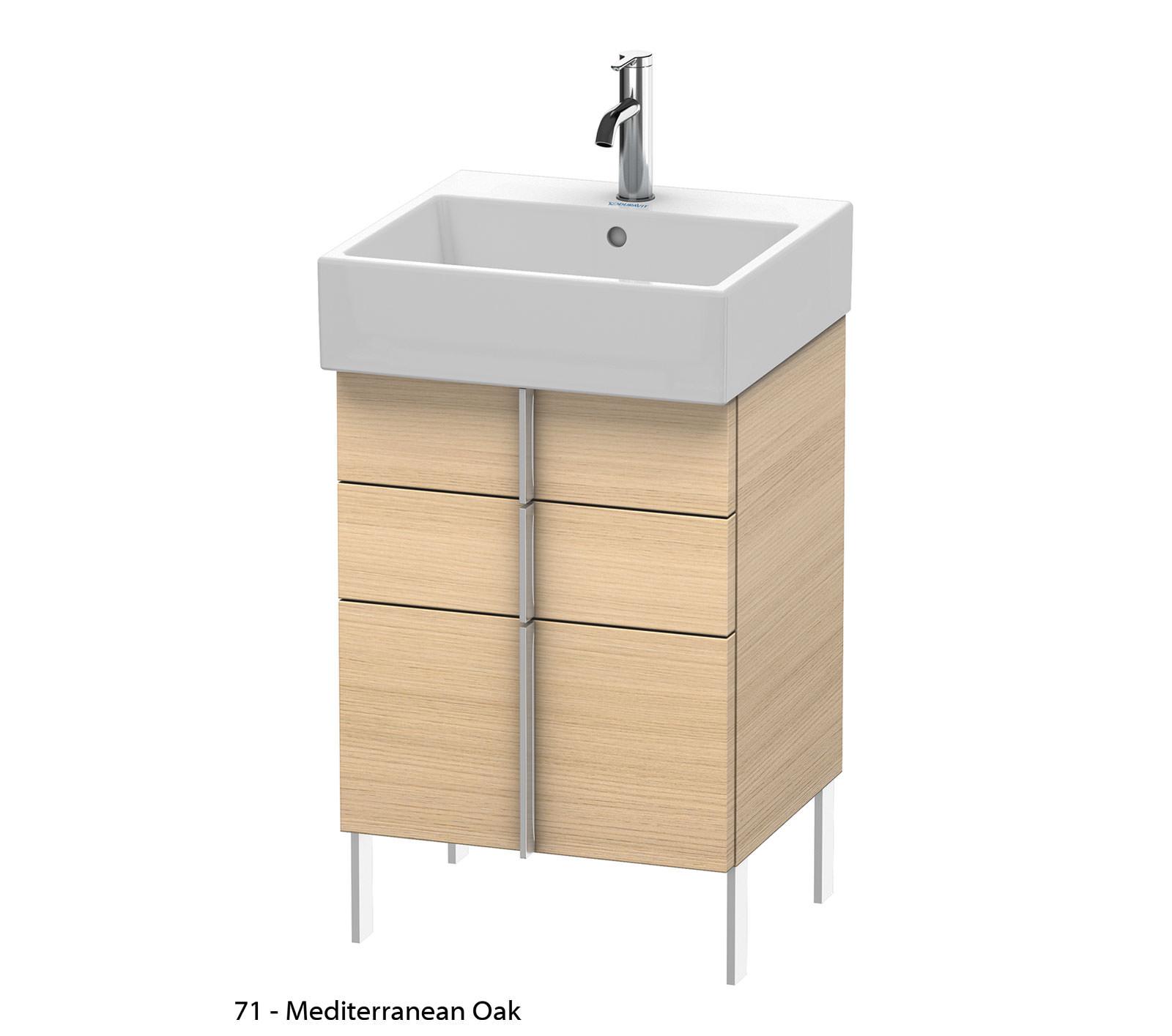 duravit vero air 484 x 431mm 2 drawer floor standing unit. Black Bedroom Furniture Sets. Home Design Ideas
