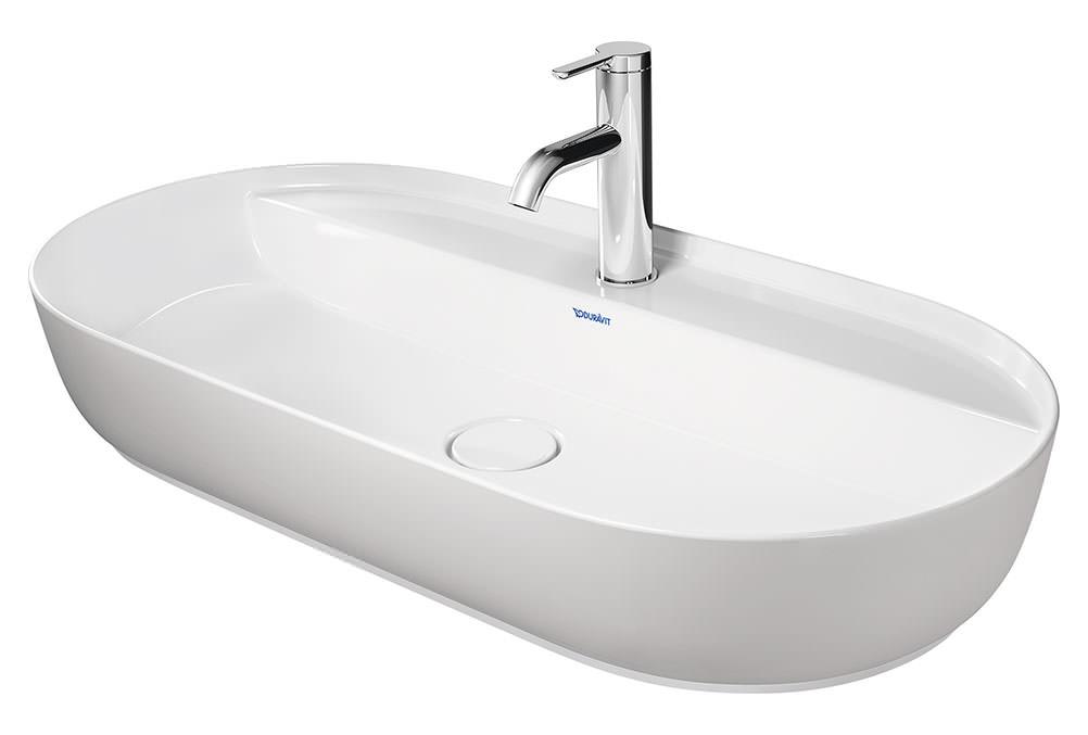 duravit luv 800 x 400mm ground wash bowl with tap platform. Black Bedroom Furniture Sets. Home Design Ideas