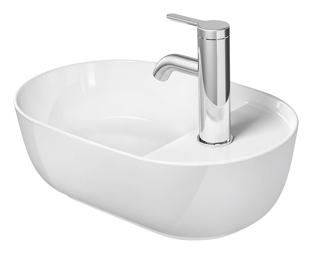 duravit luv 420 x 270mm ground wash bowl with tap platform. Black Bedroom Furniture Sets. Home Design Ideas