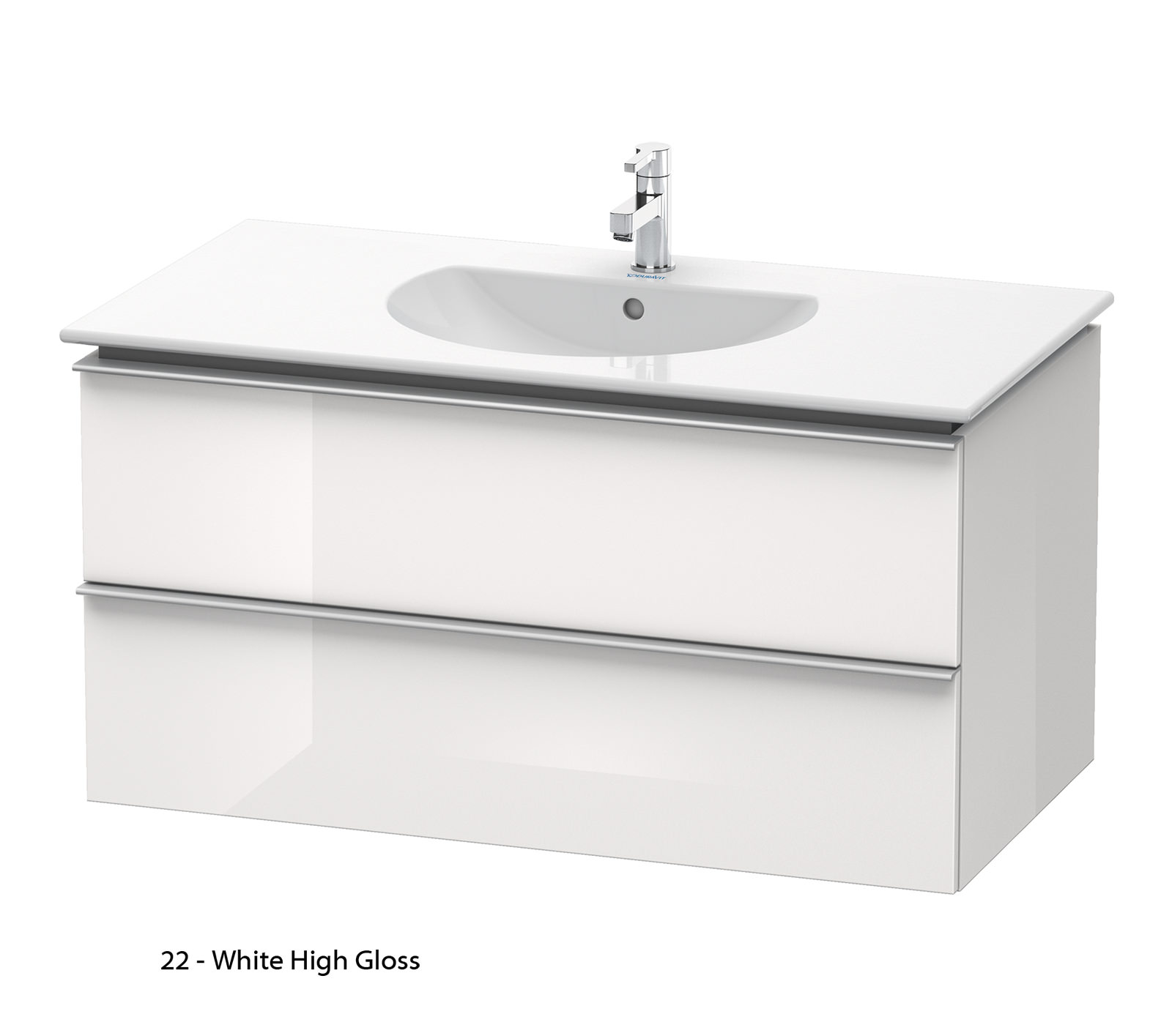 Duravit Darling New 1000mm 2 Drawers Terra Vanity Unit