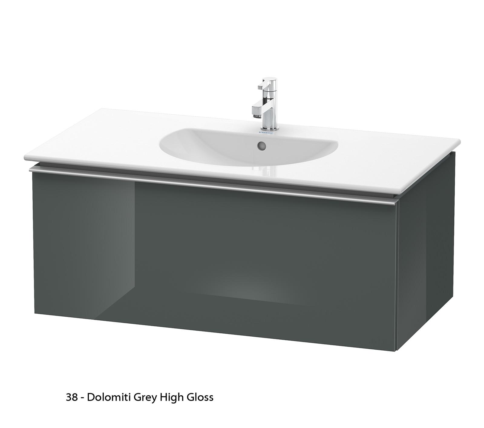 Duravit darling new 1000mm wall mounted basin vanity unit - Duravit bathroom furniture uk ...