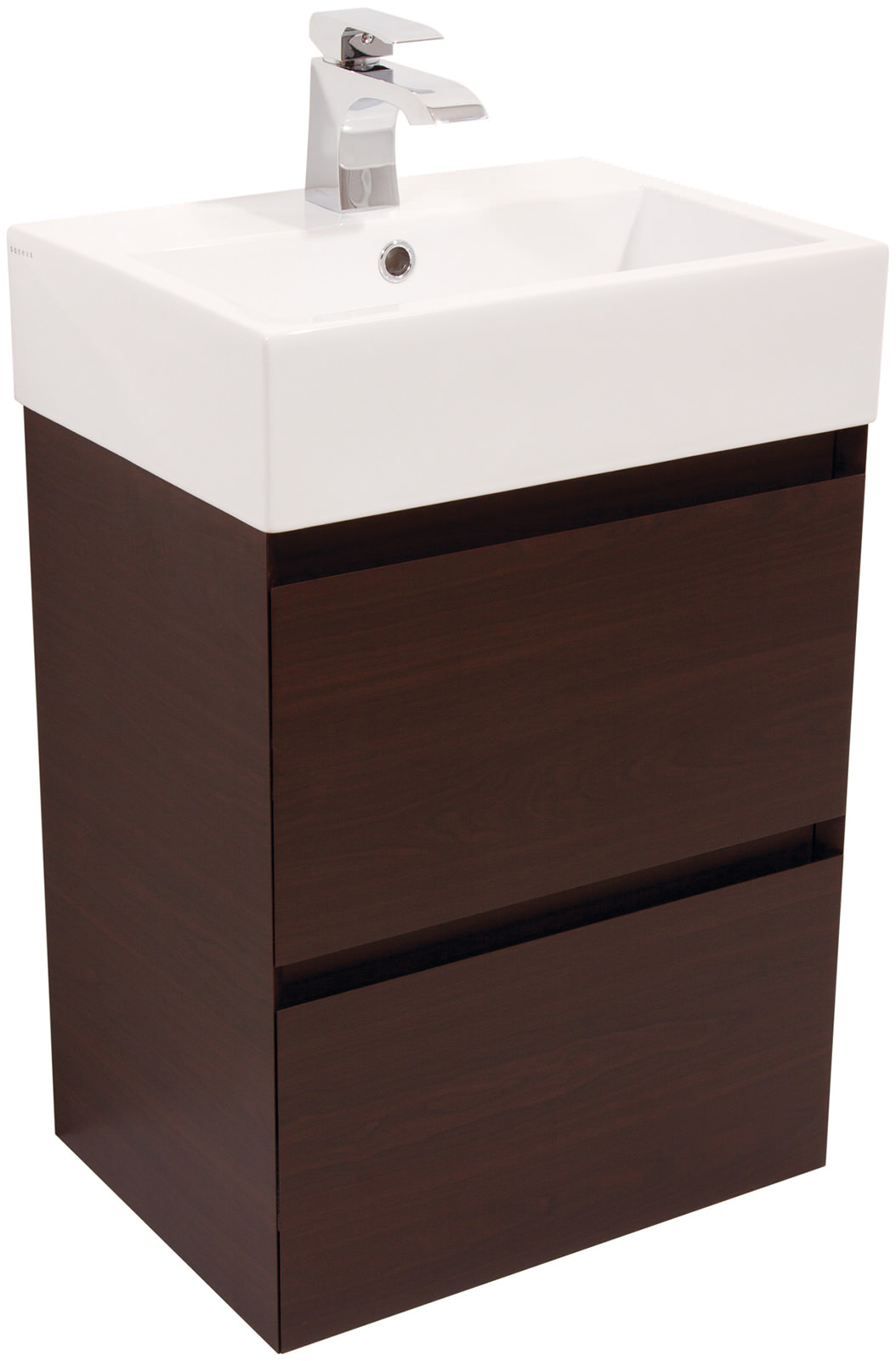 Saneux podium 500mm zulu wenge 2 drawer cabinet with for Kitchen cabinets 500mm