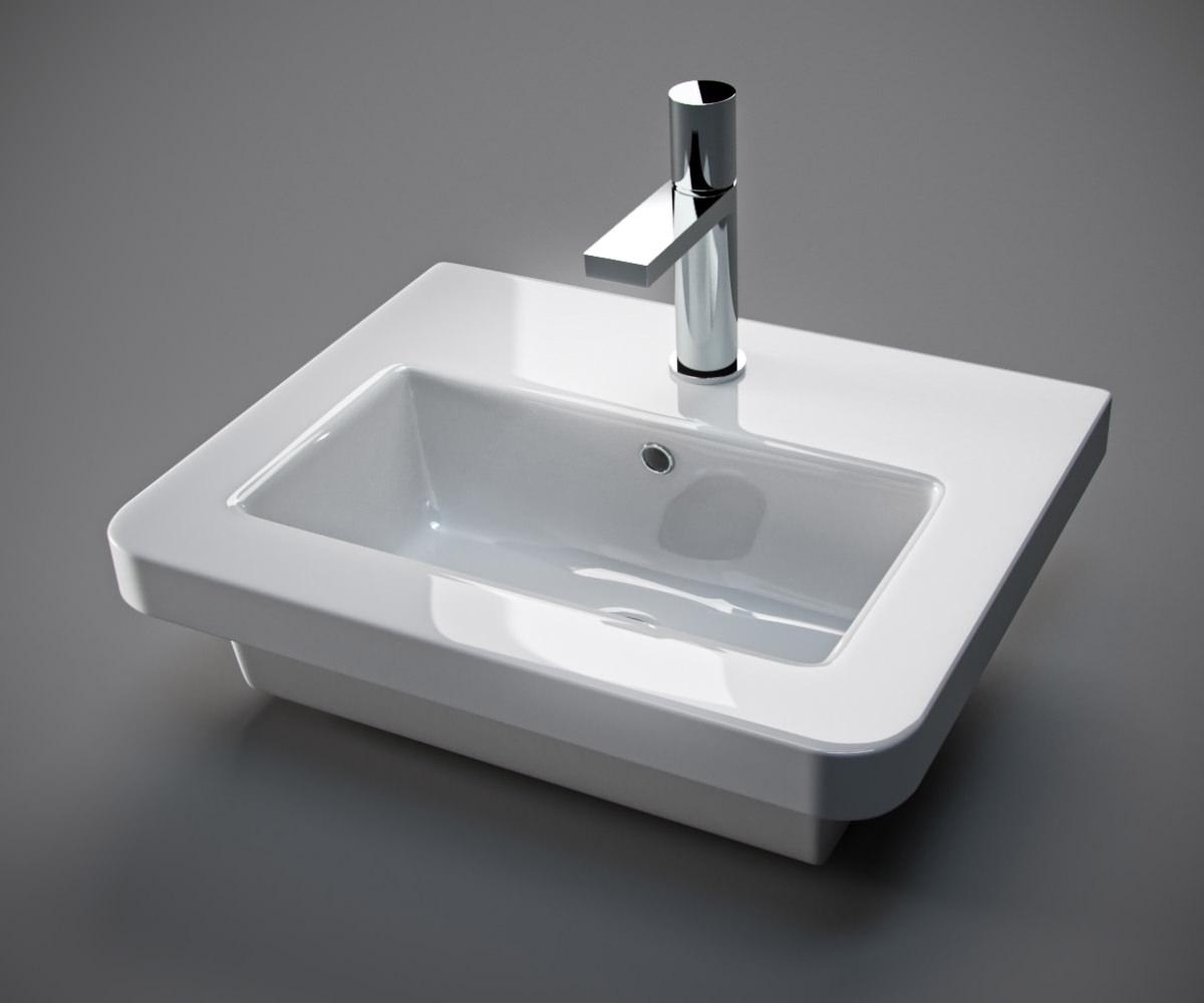 Saneux Indigo 500mm Gloss White 2 Door Unit With Washbasin