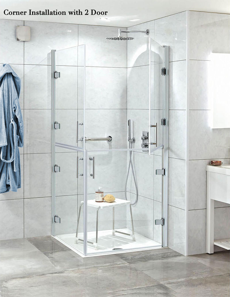 Phoenix ambulant hinged shower door 1000mm cbse010 for 1000mm shower door