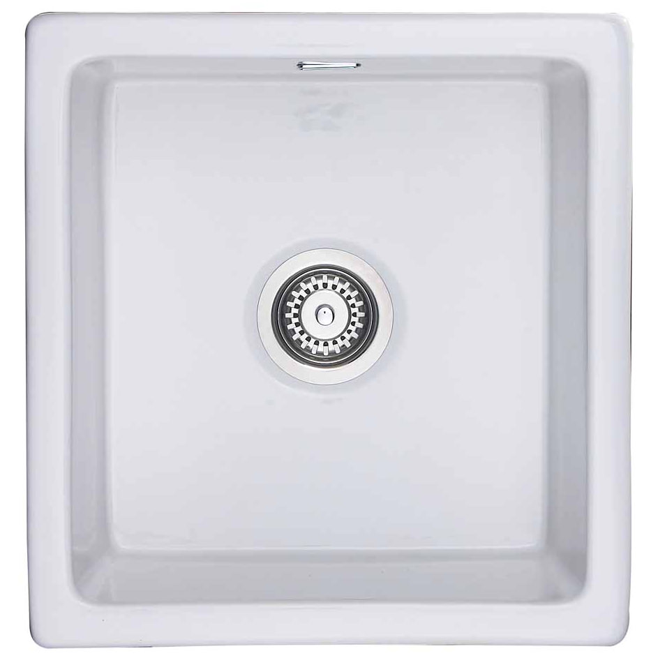 Rangemaster Rustique 450 X 475mm Fire Clay Ceramic 1.0B Undermount Sink