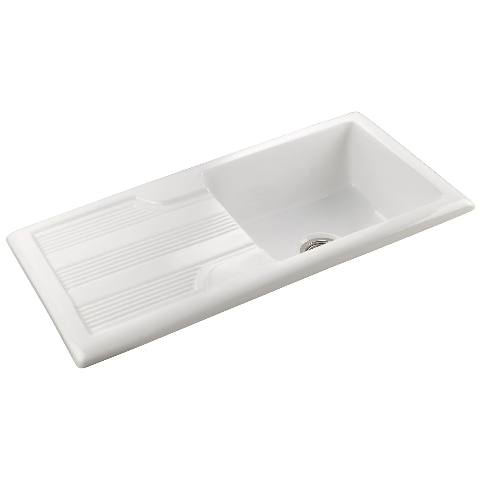 Rangemaster Portland 1010 X 510mm Fire Clay Ceramic White