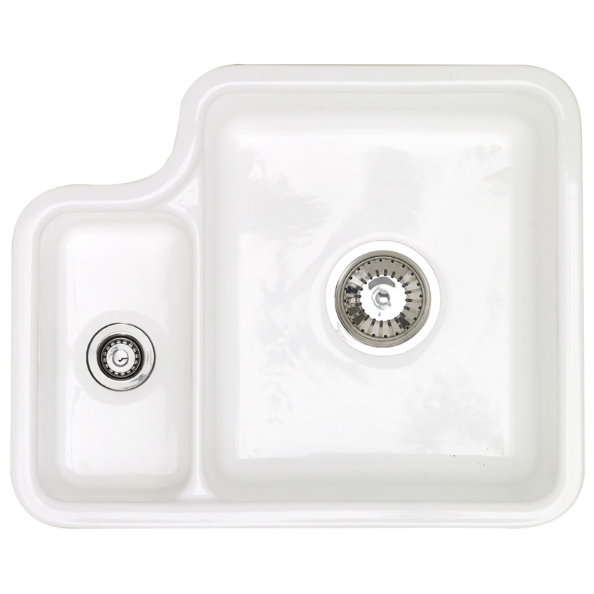 Astracast Lincoln 1.5 Bowl Ceramic Undermount Kitchen Sink ...
