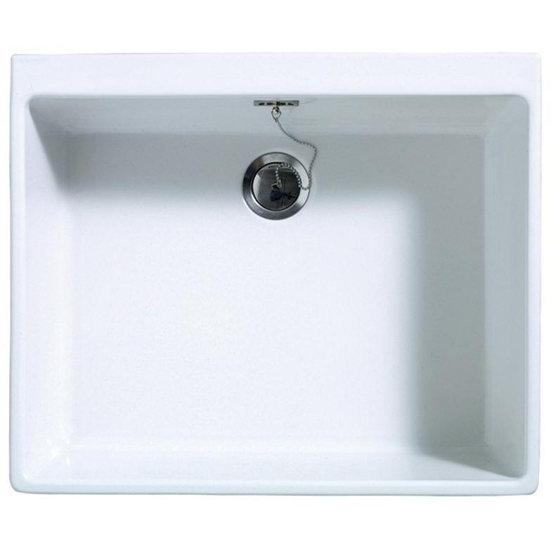 Sit On Kitchen Sink Part - 43: Astracast Sudbury 1.0 Bowl Ceramic Gloss White Sit-In Kitchen Sink