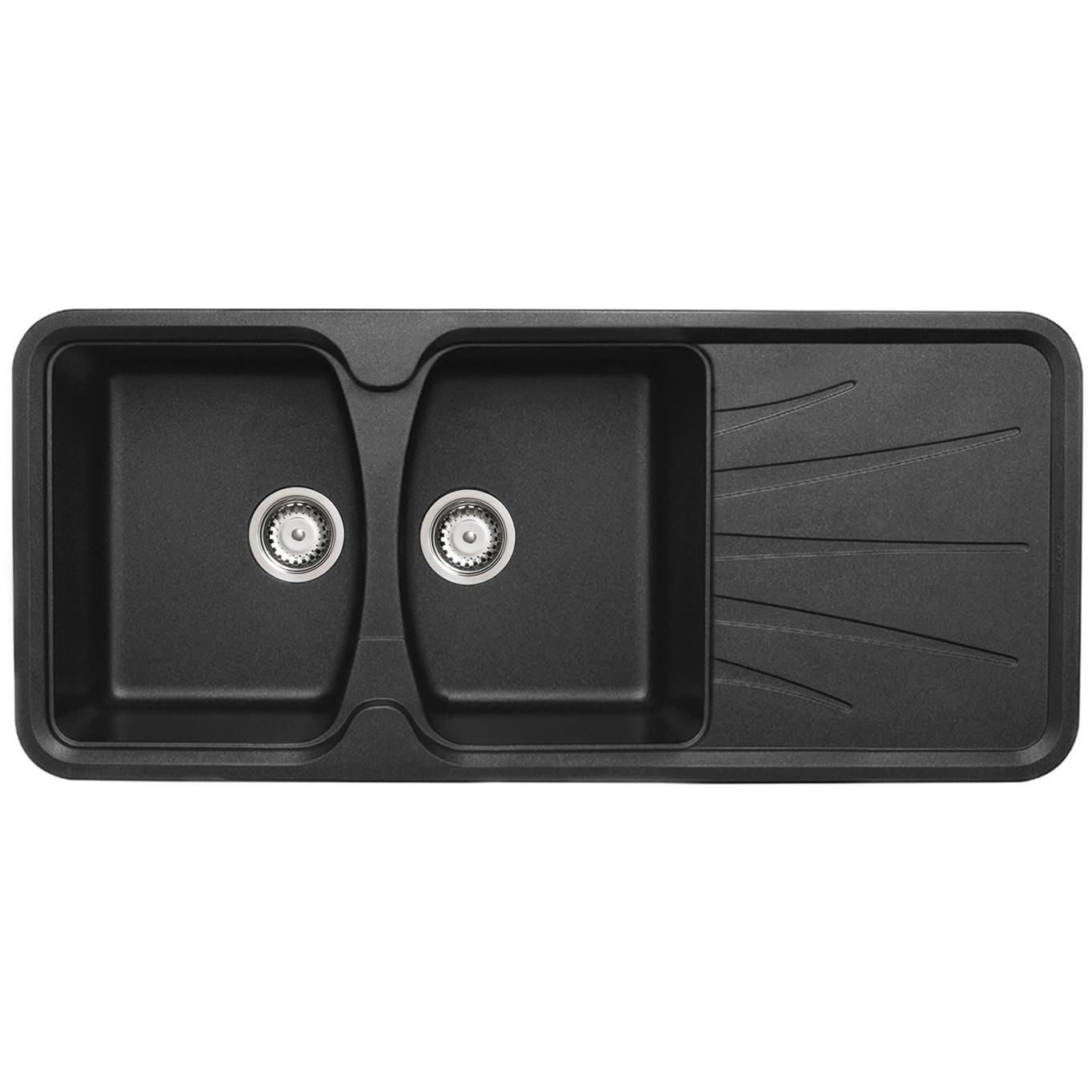 astracast korona 2 0 bowl composite rok metallic inset. Black Bedroom Furniture Sets. Home Design Ideas