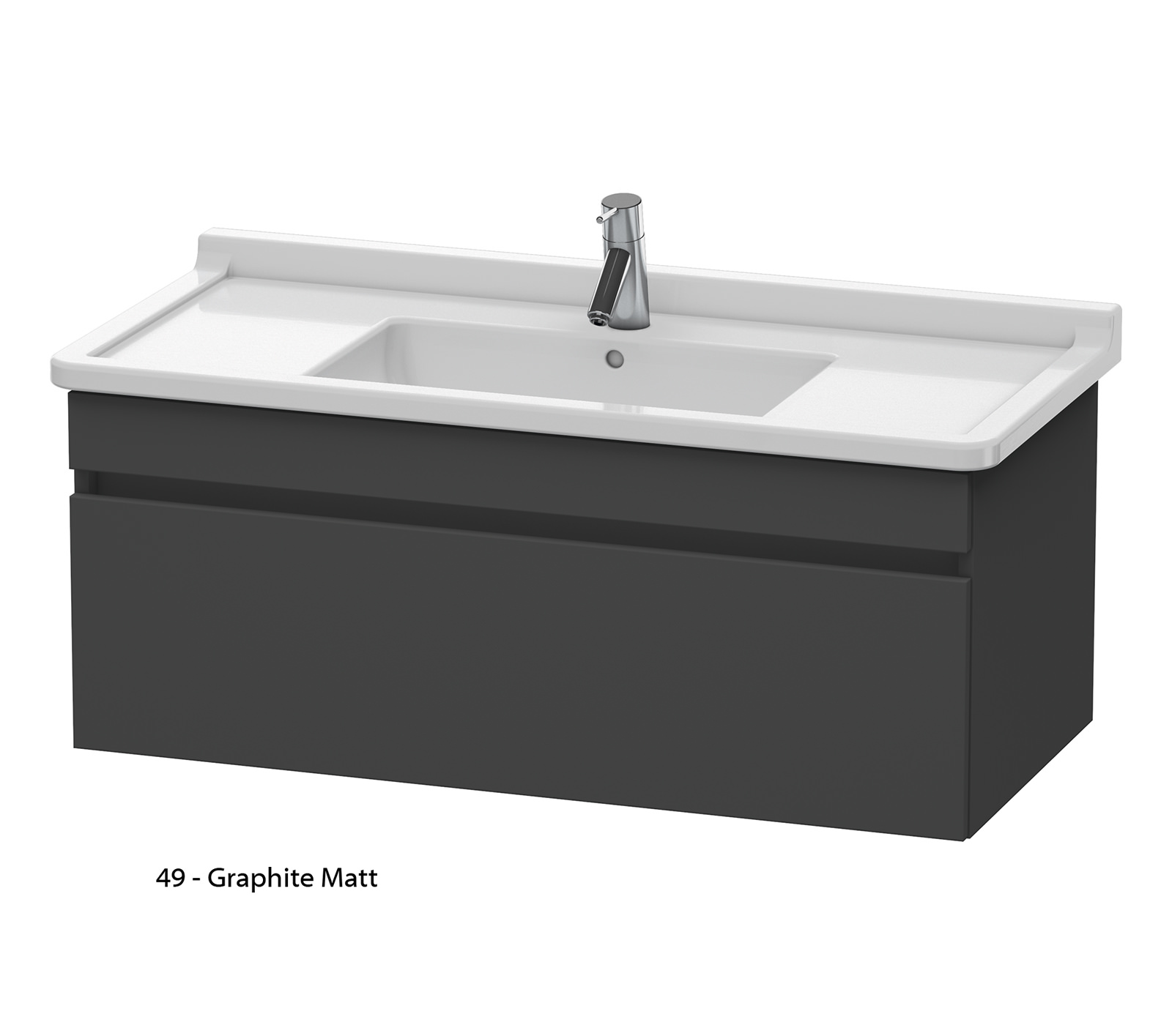 duravit durastyle 1000mm vanity unit with 1050mm starck 3 basin ds6389. Black Bedroom Furniture Sets. Home Design Ideas