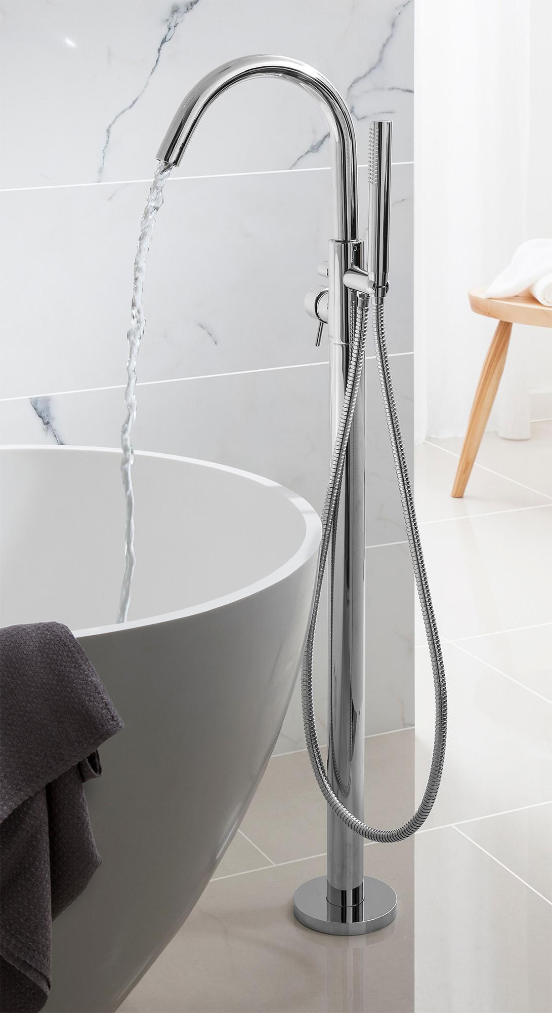Bath Taps: Crosswater Design Floor Standing Bath Shower Mixer Tap